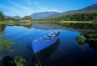 High Angle View Of A Boat In A Lake, Killarney, County Kerry, Republic Of Ireland