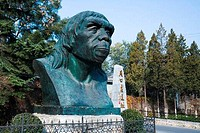Sculpture of Peking man at an archaeological site, Zhoukoudian Site, Zhoukoudian, Beijing, China
