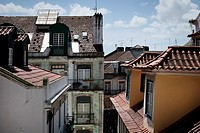 Lisbon, Portugal, Alfama district, roofs