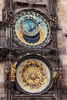 The Astronomical clock or Prague Orloj, Prague Czech Republic 2010
