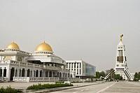 Streets of Ashgabat, Tukmenistan, Asia
