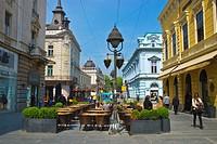 Knez Mihailova pedestrian street central Belgrade Serbia Europe