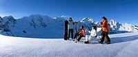 Winterplausch in Diavolezza GR mit Piz Bernina und Piz Palü
