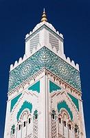Morocco Casablanca (Dar el Beida) Hassan II Mosque Minaret detail