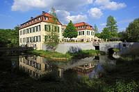 Germany, Gelsenkirchen, Ruhr area, North Rhine-Westphalia, Gelsenkirchen-Buer, Schloss Berge (Berge Castle), hotel, restaurant
