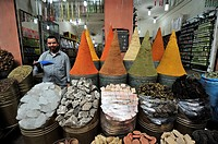 Spices stall in Marrakech souk  Morocco
