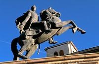 Statue of Simon Bolivar  Simon Bolivar square  Potosi  Bolivia