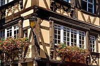 Timber_framed house in Petite France, Strasbourg, France, detail
