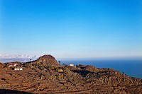 View of Antoncojo, La Gomera, Spain, elevated view