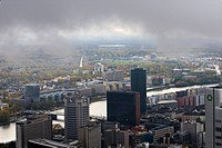 Main and Commerzbank Arena, Frankfurt am Main, Hesse, Germany