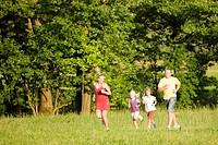 Familie und Sport _ Joggen
