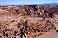View over the Cordillera de la Sal mountains and the Salar de Atacama near San Pedro de Atacam in Chile
