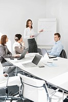 Businesswoman giving presentation in a meeting