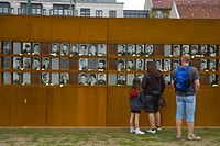 Berlin Wall exhibition at Nordbahnhof metro station between old east and west Mitte Berlin Germany Europe