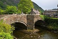 Bridge over the River Colwyn Beddgelert Snowdonia Wales