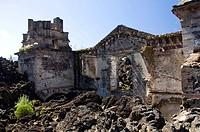 Zerstörte Kirche, Mexico