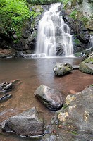 Beautiful Spruce Flat Falls in Great Smoky Mountains Natonal Park, after the spring rains  On the border of North Carolina and Tennessee