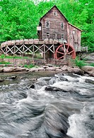 The Beautiful historic Glade Creek Grist Mill after the spring rains  Located in Babcock State Park, West Virginia