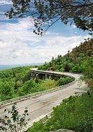 The Linn Cove Viaduct  Part of the Blue Ridge Parkway near Grandfather Mountain, North Carolina