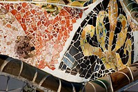 Park Güell by architect Gaudi, Barcelona, Catalonia, Spain