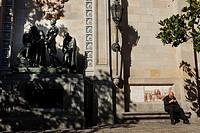 Plaça Garriga i Bachs, Gothic quarter, Barcelona, Catalonia, Spain