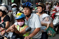 Vietnam, Ho Chi Minh City, Motorbike Traffic