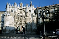 Arco de Santa Maria, the medieval entrance to the city of Burgos, Castille, Spain.