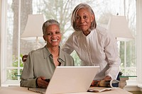 Black businesswoman working together