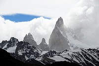 Fitz Roy and Cerro Torre Patagonia Argentina El Chalten