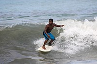 A surfer at Cahuita