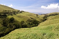 Hills near the village of Quebrada Grande