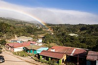 Rainbow over Monteverde town
