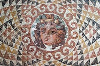 Europe, Greece, Peloponnese, ancient Korinthos, archaeologic museum, roman mosaic