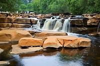 Lower Falls Wain Wath Force Swaledale Yorkshire Dales England