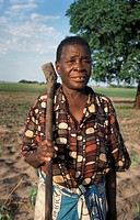 shangombo, people, hoe, zambia, person, woman
