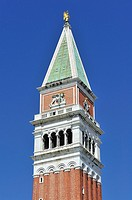 Campanile tower in St Mark's Square, Venice, Italy