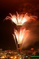 celebration, years, fireworks, seattle, washington, dark