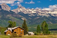 Ridgway, Colorado USA with Sneffels Range in background