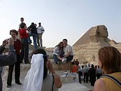 country, tourists, 2002, giza, sphinx, egypt