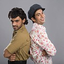 Actors portraying Gabbar Singh and Dev Anand