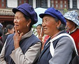 enjoying, person, minority, naxi, china, people