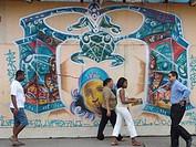salvador, person, pelourinho, mural, brazil, people