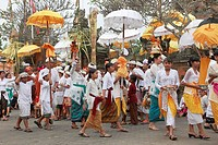 Indonesia, Bali, Mas, temple festival, people, odalan, Kuningan holiday,