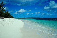 sandy Beach, Caribbean Sea, Bahamas