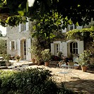 French House Exterior in the Summer Sun