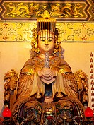 Statue of the Goddess Tian Hou The Heavenly Mother at Thean Hou Temple, Kuala Lumpur Malaysia