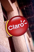 Sign for Latin American mobile or cell phone network Claro