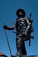monument, statue, alaska, sitka, seen, bronze