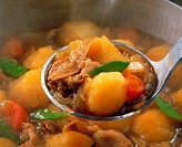 Potatoes Stewed With Pork