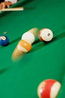 Close_up of pool balls